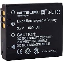 Mitsuru® batería para Fuji NP-70 Leica BP-DC4 Panasonic CGA-S005 Pentax D-Li106 Ricoh DB-60 DB-65 recambio para Ricoh Caplio GX200 R3 R30 R4 R40 R5