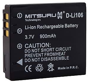 Mitsuru® Batteria di riserva per Fuji NP-70 Leica BP-DC4 Panasonic CGA-S005 Pentax D-Li106 Ricoh DB-60 DB-65, adatta a Mpro 110 Micro Projector Fujifilm FinePix F40 F40FD F47FD Leica C-LUX 1 D-LUX 2 D-LUX 3 D-LUX 4 Panasonic Lumix DMC-FC01 DMC-FX01 DMC-FX07 DMC-FX10 DMC-FX100 DMC-FX12 DMC-FX150 DMC-FX3 DMC-FX50 DMC-FX8 DMC-FX9 DMC-LX1 DMC-LX2 DMC-LX3 DMC-LX9 Pentax Optio X90 Ricoh Caplio G600 GR Digital GR Digital II GX100 GX200 R3 R30 R4 R40 R5