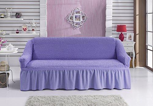 My Palace Stretch 2 Sitzer Bezug, 2 Sitzer Husse Baumwolle & Polyester. Sehr elastische Sofaueberwurf in lila/Flieder. Sofabezug Hussen Sofahusse Stretch/Stretch Hussen/Sofabezug 2 Sitzer