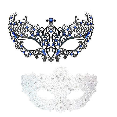 Adjustable Masquerade Mask Party Cosplay Blue -