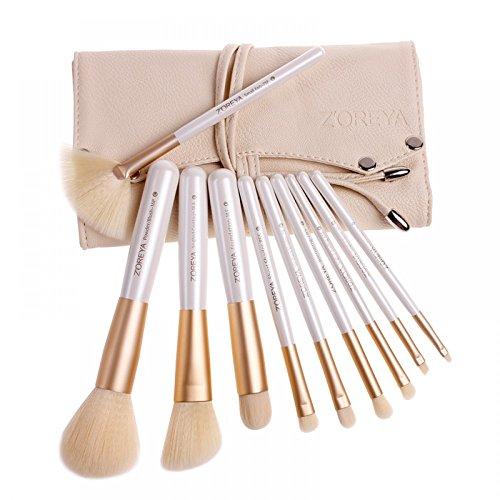 Zeoreya Kosmetik-Pinsel-Set, 10-teilig, professionelles Set, Synthetikborsten, hochwertige...
