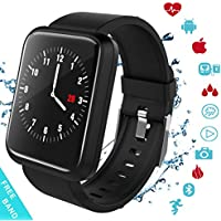 Fitness Tracker, Activity Tracker with Swimming Pedometer Blood Pressure Heart Rate Sleep Monitor Bluetooth Weather Call SMS SNS IP67 Waterproof for Women Men Android Iphone