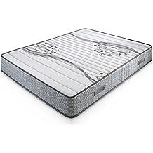 Colchón Viscoelástico Boston 90X190, 22 cm de altura, 1,5 cm de Viscoelástica de 65 Kg/m³, Independencia de lechos, Firmeza media, Alta durabilidad