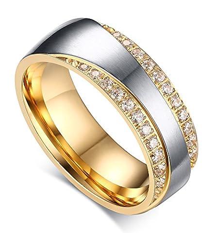 Mealguet Jewelry Sans poiçon métallique Pour femme (acier inoxydable) Rond Zircone cubique