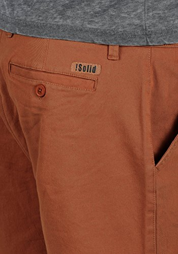 SOLID Lamego Herren Chino-Shorts kurze Hose Business-Shorts aus hochwertiger Baumwollmischung Fox Brown (6792)