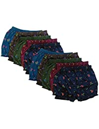 Zombie Cotton Girls Boys Printed Bloomers_(Pack Of 10)_Assorted Colors