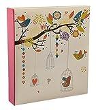 ARPAN, Album Fotografico per 200 Persone, Formato Grande, 5 x 7 cm, Motivo: Uccellini Vintage, Colore: Avorio, 28 x 4 x 25 cm