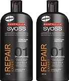 Saint Algue - Syoss - Shampooing - Repair Expert - Flacon 500 ml - Lot de2