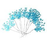 #1: Generic Pack of 50 Wedding Party Flower Bridal Bouquet Decoration Acrylic Drops Artificial Beads - blue
