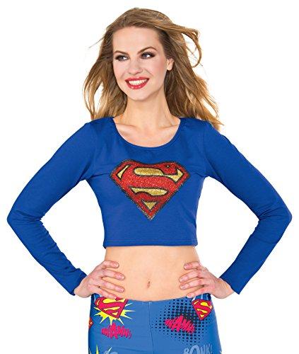 Rubies Womens Supergirl Crop Top Shirt ()