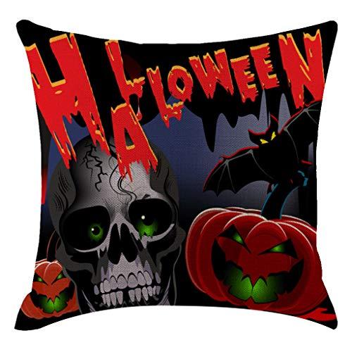 Lazzboy Halloween Kürbis Kissenbezug Kissenbezüge Dekorative Sofakissenbezug Koordiniert Quadratische Wohnzimmer-Sofa(H) (Vampir Opfer Kostüm)