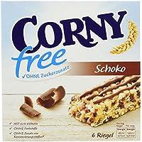 CORNY free Schoko, Müsliriegel OHNE Zuckerzusatz, 120g Schachtel mit 6 Riegeln
