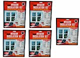 Indoor Window Insulation Kit, Clear film that blocks out cold drafts, Fits most