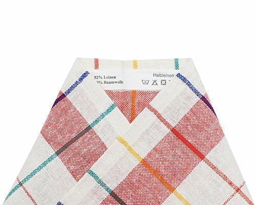 COSMOZ Juego de 10 paños de Cocina de Tela Mixta/Trapos de Cocina de Lino y algodón 70x50 cm, Calidad Profesional Oeko-Tex 100