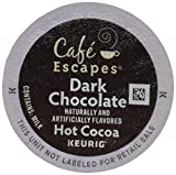 Caf Escapes Hot Cocoa, Dark Chocolate, K-Cup Portion Pack for Keurig Brewers, 24-Count