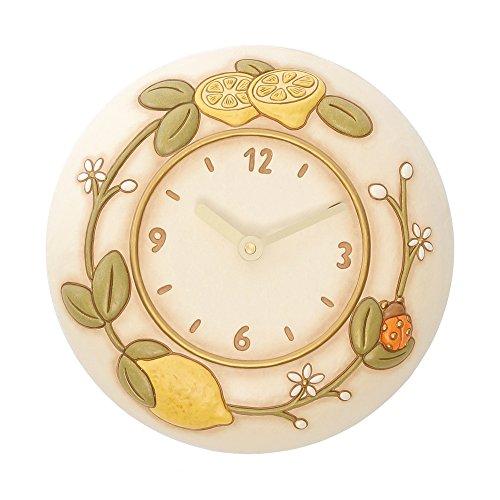 thun limoni orologio da parete ceramica variopinto