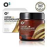 O³ Creme Bave Escargot Visage-Creme Hydratante Anti-Ride-Racines de ginseng et sécrétion d'escargot - 100% naturelle -Soin réparateur et cicatrisant. Régénérante. Tonifiante et efficace contre l'acné