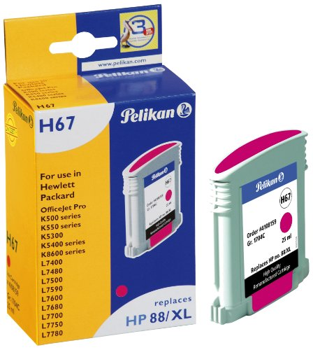 Pelikan 4108159 - Cartucho de Tinta HP OfficeJet Pro K5400-88XL - HP88 - Magenta