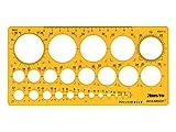 Aristo ar5331cerchiometro con Tusch oppen, 25cerchi, 1–36mm, Trasparente/Giallo