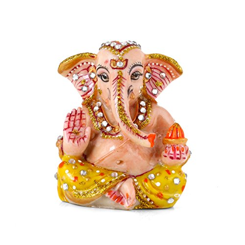 Collectible India Lord Ganesha Idols for Car Dashboard Decor Statue | God Ganesh Car Decor Sculpture  available at amazon for Rs.224