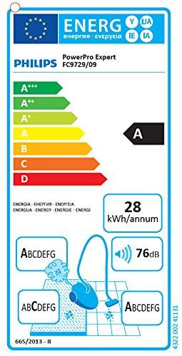 Philips FC9729/09 Aspirateur sans Sac PowerPro Expert, Aac, Technologie Power Cyclone 8, Brosse TriActive, Filtre Anti-Allergène, Rouge Vif 2 Litre