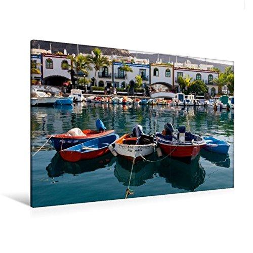 Preisvergleich Produktbild Premium Textil-Leinwand 120 cm x 80 cm quer, Ein Motiv aus dem Kalender Gran Canaria - Puerto Mogan/Maspalomas | Wandbild, Bild auf Keilrahmen, ... Leinwand, Leinwanddruck (CALVENDO Orte)