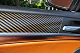 12 tlg. Carbon Braun Interieurleisten 3D Folien SET 100µm stark , Türleisten, Mittelkonsole, Aschenbecher