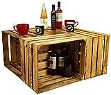 4er Set Massive Obstkiste Apfelkiste Weinkiste aus dem Alten Land +++ 50 x 40 x 30 cm (NEU GEFLAMMT)