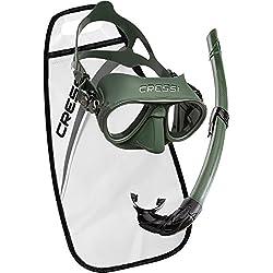 Cressi Sub S.p.A. Calibro Corsica Kit de randonnée Aquatique Mixte Adulte, Vert, Unique