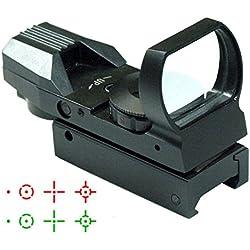 IRON JIA'S 20mm airsoft Tactical ferroviaire multi réticule 4 Rouge et Green Dot Sight Portée queue d'aronde Monts Red Dot Sight