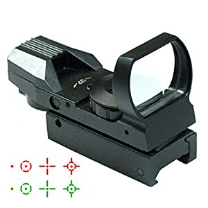 IRON JIA'S 20mm airsoft Tactical ferroviaire multi réticule 4 Rouge et Green Dot Sight Portée queue d'aronde Monts Red Dot Sight