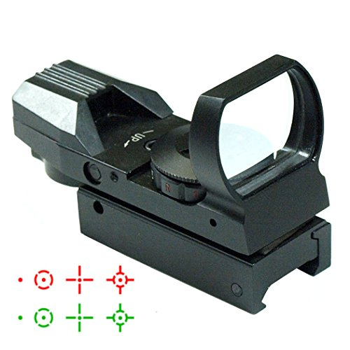 IRON JIAS 20 MM CARRIL TACTICO DEL RETICULO MULTI 4 PUNTO ROJO Y VERDE LA VISTA DEL ALCANCE DE COLA DE MILANO RED DOT SIGHT MONTURAS