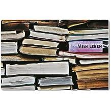 """Magnet / Kühlschrankmagnet Nr1130 - Titel: """"BIBLIOMANIE"""" - Aufschrift: *MEIN LEBEN* - Von tom bäcker aus der Fotoserie """"Die schöne Sprache"""""""