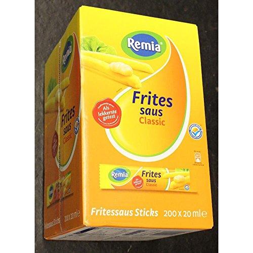 Remia Gewürz-Sauce Fritten Sauce Classic Displaybox 200 x 20ml einzeln verpackt (Frites Saus)
