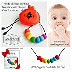 Baby Teething Necklace for Mum to Wear with Storage Case - Best Baby Gifts for Baby Boy, for Baby Girl & for Toddlers - Teething Pain Relief - 100% Food SAFE Silicone Tested, BPA Free, Dishwasher Safe