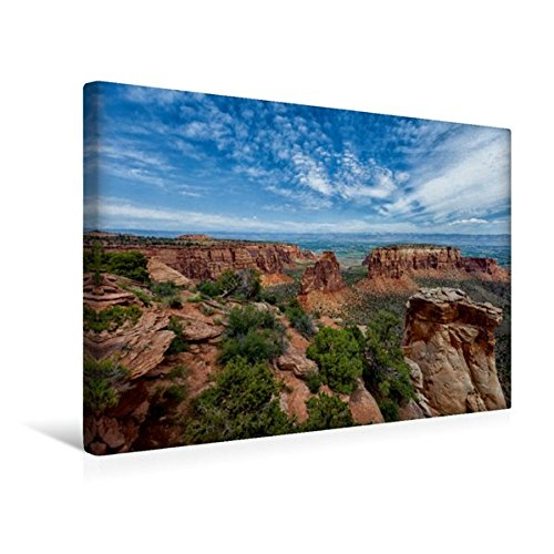 Calvendo Premium Textil-Leinwand 45 cm x 30 cm quer, Colorado National Monument, Colorado   Wandbild, Bild auf Keilrahmen, Fertigbild auf echter Leinwand, Leinwanddruck Orte Orte