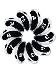 Andux Lot/Set de golf Fer Couvre Tête avec nombre étiquette Lot de 10