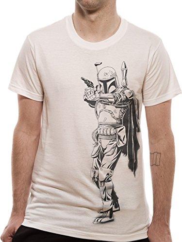 CID Star Wars - Logo Outline, T-Shirt Uomo Bianco