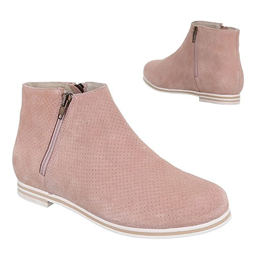 Femme Rose Bottines Ital design Altrosa 7wH4T