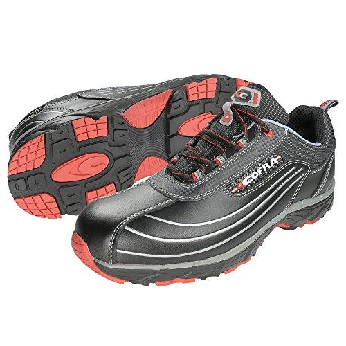 Cofra, JV003-000, Scarpe di sicurezza S3 lavoro nuovo diavolo scarpe da lavoro Volare taglia 44 nero