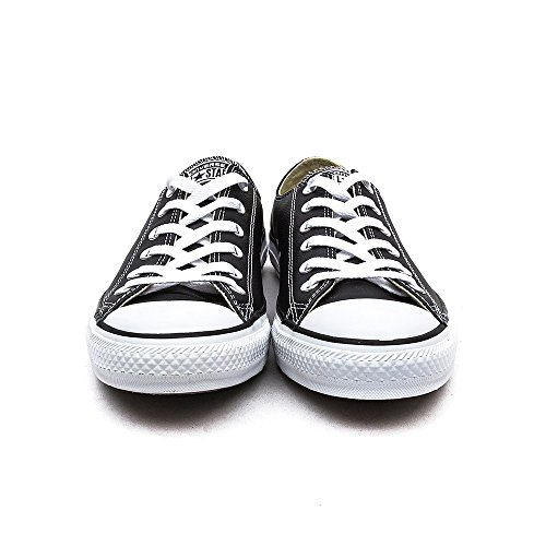 Converse Chuck Taylor Core Lea Ox, Unisex - Erwachsene Sneaker Schwarz