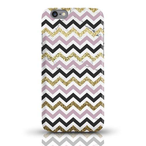 """JUNIWORDS Handyhüllen Slim Case für iPhone 6 / 6s - Motiv wählbar - """"Anker Design 1 Dunkelblau"""" - Handyhülle, Handycase, Handyschale, Schutzhülle für Ihr Smartphone Chevron Muster bunt"""