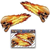 Grande cranio fiammeggiante dive