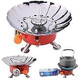 WESTLINK Mini Tragbar Faltbar Gaskocher Campingkocher Campinggaskocher mit Windschutz für