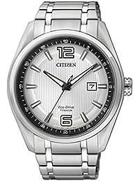 Citizen  AW1240-57B - Reloj de cuarzo para hombre, con correa de titanio, color plateado