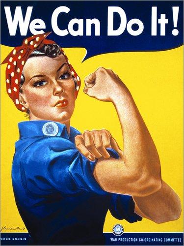 Posterlounge Lienzo 100 x 130 cm: We Can Do It J