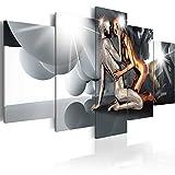 murando Quadro 200x100 cm 5 Pezzi Stampa su Tela in TNT XXL Immagini Moderni Murale Fotografia Grafica Decorazione da Parete Gestalt Persona Coppia Amore h-A-0046-b-n