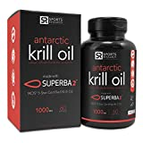 Sports Research #1 Pure Antarctic Krill Oil with Astaxanthin; Double-Strength with 1000mg of Superba® Krill Oil per liquid softgel; Contains the Highest levels of Omega-3s, Phospholipids and Astaxanthin per softgel; 60 Liquid Softgels, 2 month Supply! fro
