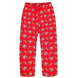Arsenal FC Official Football Gift Mens Lounge Pants Pyjama Bottoms Red Medium