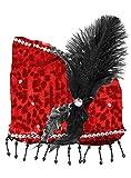 Charleston Pailletten Handtasche - Rot - Zauberhafte Party Umhängetasche zum 20er Jahre Gatsby Kostüm